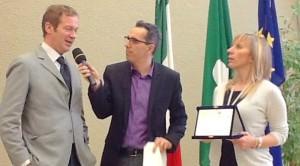 Guecello Di Porcia premiato a Milano da Claudia Maria Terzi assessore regionale Lomabardia