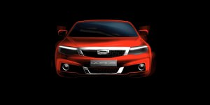Second Qoros model debuts at Geneva 2014 - front