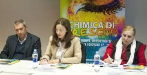 Silvana Tiani Brunelli al centro, tra Massimo Duca e Renata Capria D'Aronco
