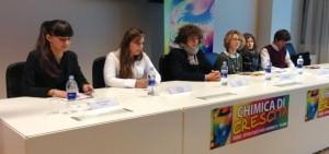 Alcuni studenti che hanno partecipato alla conferenza stampa