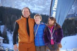 Runggaldier con Alan Taucer e Alissia Conti