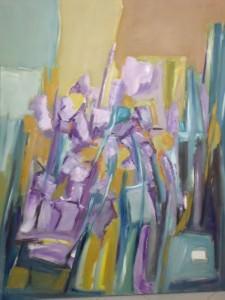 iris viola cm. 100 x 120