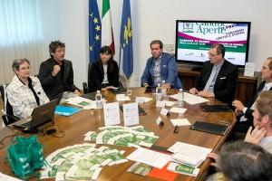 Un momento della conferenza stampa. (Foto Gallina)