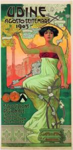 Cesare Simonetti, Manifesto per l'esposizione regionale Industria, Agricoltura arte e sport, Udine 1903 (Collezione Salce)
