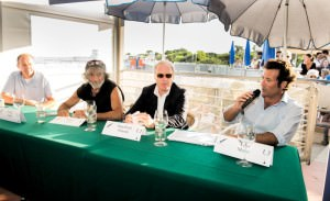 da sx a dx Giorgio Badin, Mauro Corona, Gian Paolo Polesini e Vico Meroi