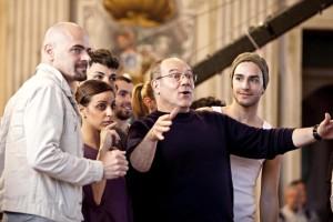 Carlo Verdone sul set di Cenerentola