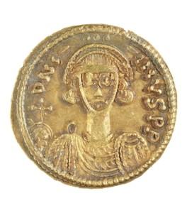Aureo longobardo con l'immagine di Gisulfo II (742-751 d c) - Zecca di Benevento
