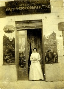 Negozio in Corso Verdi a Gorizia. (Inizi XX secolo, coll. Nereo Tavagnutti)