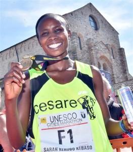 La keniana Sarah Kerubo Kebaso