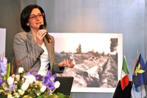 Sara Vito durante l'intervento