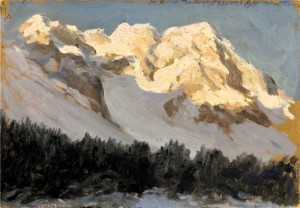 Montagne innevate cm 25,5x36, 1912