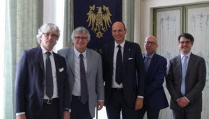 da sin Eugenio Comuzzi, Alberto Felice De Toni, Lorenzo Sirch, Mario Nussi, Nicola Agnoli
