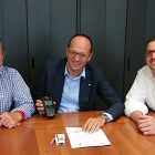 Da sinistra Giuliano Ravasio, Lorenzo Sirch, Alvise Abu Khalil