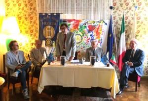 Da sinistra: Andro Merku, Giuliano Cecovini, Ferruccio Divo, Gregor Velkaverh e Gabriele Gatti