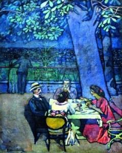 Serata a Trieste (1914), Olio su tela