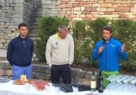 Il Direttore del Club Daniele Binda, il Presidente del Club Mirco Giusto ed il Maestro Gianluca Gatti