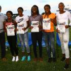 27 Meeting Sport Solidarieta  - da dx Dannisi, Fraser, Thompson, McKnight, Herunga (NAB), McPherson e Ferguson (BAH)