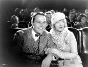 Show People - William Haines with Marion Davies at the movies