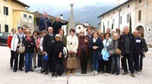Gruppo di iscritti durante  una gita di istruzione