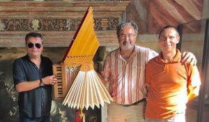 Da sinistra,Sebastiano Zorza, Denis Biasin e il direttore del museo Luca Brusotti