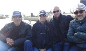 Da sinistra, Ken Gord, Martin Campbell, Federico Poilucci e Alessandro Coleschi