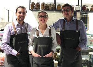Da sinistra, Roberto Picciolo, Gaia Venturini ed Enrico Ciroi